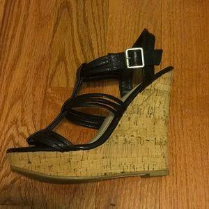 Wild Diva Shoes - Black wedges
